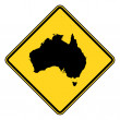 Australia road sign — Stock Photo
