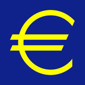 European currency symbol — Stock Photo