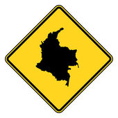 Columbia map road sign — Stock Photo