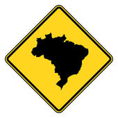 Brazil road sign — Stock Photo
