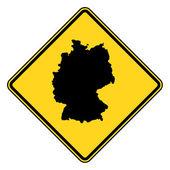 Señal de tráfico alemania — Foto de Stock