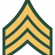 Stock Photo: Americrank of sergeant insignia
