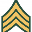 Americrank of sergeant insignia — Stock Photo #4186096