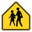 Stock Photo: School zone sign