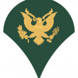 US army specialist insignia — Stock Photo #4186137