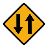 Two way traffic sign — Stock Photo