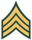 American rank of sergeant insignia — Stock Photo