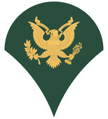 US army specialist insignia — Stock Photo