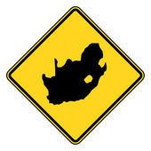 South Africa road sign — Stock Photo