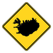 Iceland road sign — Stock Photo