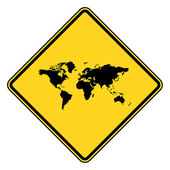 Planet Earth road sign — Stock Photo