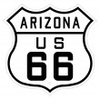 Arizona highway or route 66 sign - Stock Photo