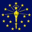 Royalty-Free Stock Photo: Indiana State flag