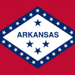 Arkansas state flag — Stockfoto