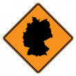 Stock Photo: Germany map road sign