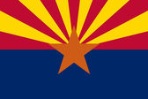 Arizona State flag — Stock Photo