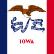 Iowa state flag — Stockfoto