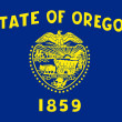 Stock Photo: Oregon state flag