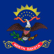 North Dakota state flag — Stock Photo