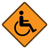 Disablied sign — Stock Photo