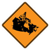 Canada map road sign — Stock Photo