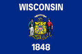 Wisconsin state flag — Stock Photo