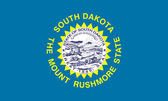 South Dakota state flag — Stock Photo