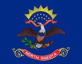 Vlag van north dakota — Stockfoto
