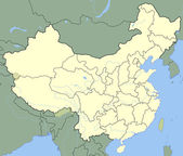 China map — Stock Photo