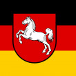 Stock Photo: Lower Saxony flag
