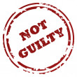 Stock Photo: Not guilty stamp