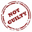 Not guilty stamp — Stock Photo #4591376