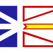 Foto de Stock  : Newfoundland and Labrador flag