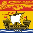 ストック写真: New Brunswick Flag