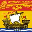 Stock Photo: New Brunswick Flag