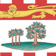 Foto de Stock  : Prince Edward Islands flag