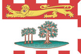 Prince Edward Islands flag — Stock Photo