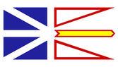 Newfoundland and Labrador flag — Stock Photo