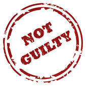 Not guilty stamp — Stock Photo