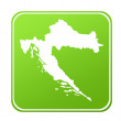Croatia map button — Stock Photo