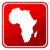 Africa map button — Stock Photo