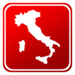 Italy map button — Foto Stock