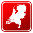 Netherlands map button — Stock Photo