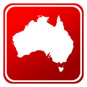 Australia map button — Stock Photo
