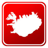 Iceland map button — Stock Photo