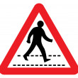 Pedestrian crossing sign — Foto Stock