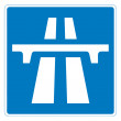 Motorway sign — Stock Photo