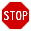 Red stop sign — Stock Photo #4906550