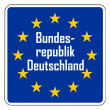 Foto de Stock  : Germany Europeroad sign