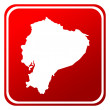 Ecuador red map button — Foto Stock